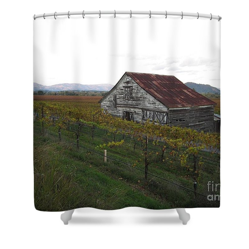 Landscape Shower Curtain featuring the photograph Wine Country by Nancy Worrell