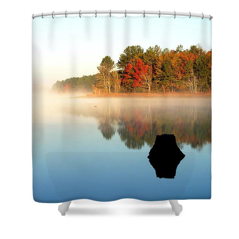 Winnsboro Shower Curtain featuring the photograph Winnsboro Reservoir-1 by Charles Hite