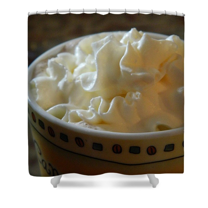 Whip Cream Shower Curtain featuring the photograph Winter Comfort by Nicki Bennett