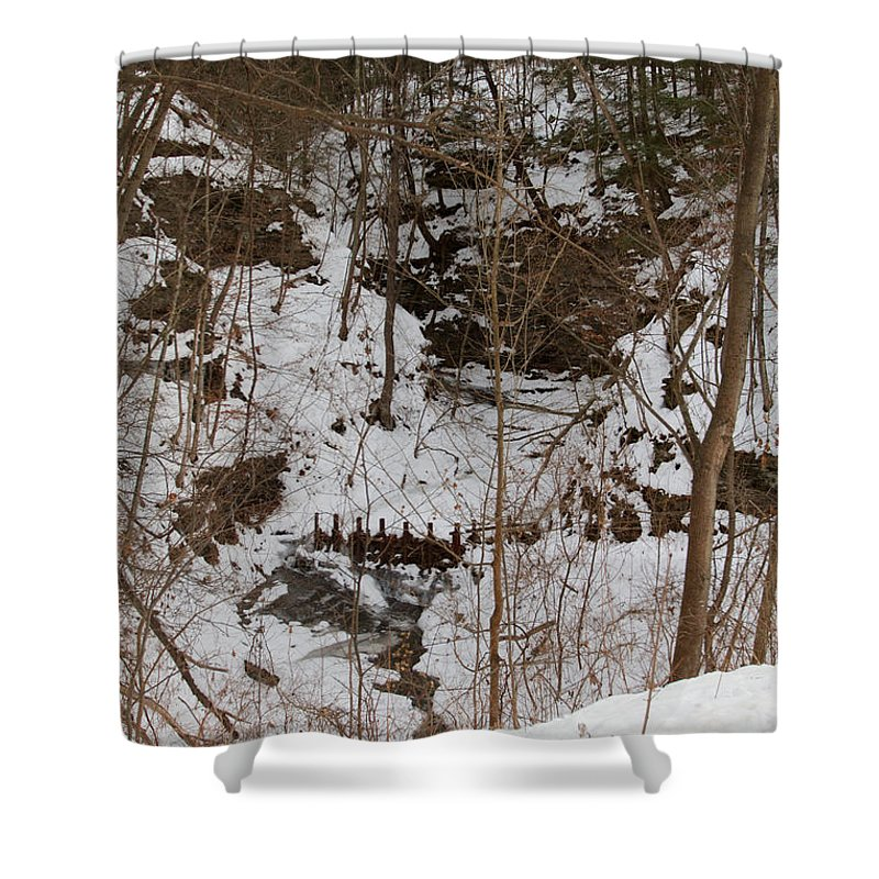 Winter Shower Curtain featuring the photograph Winter Creek by William Norton