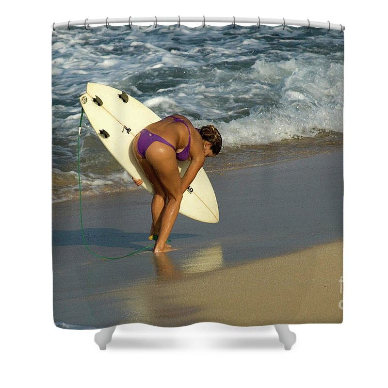 Girl Shower Curtain featuring the photograph Winter In Hawaii 3 by Bob Christopher