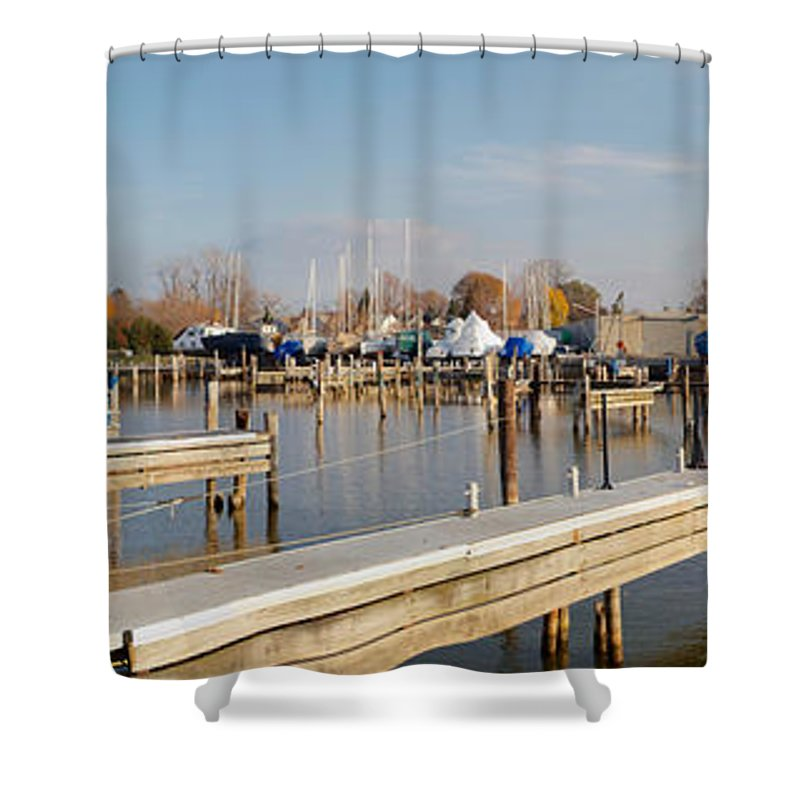 Rochester Yacht Club Shower Curtain featuring the photograph Winter Is Coming by William Norton