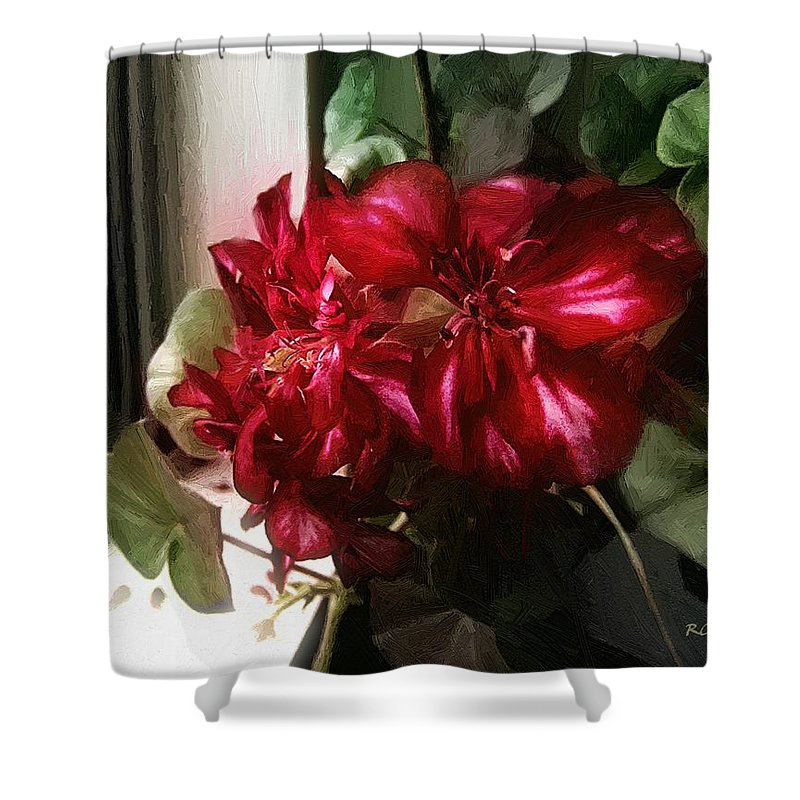 Floral Shower Curtain featuring the painting Winter Light by RC DeWinter