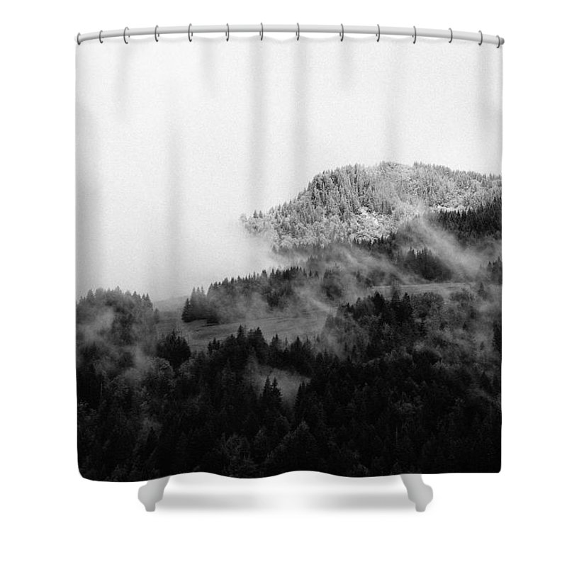 Landscape Shower Curtain featuring the photograph Winter Mist by Olivier De Rycke