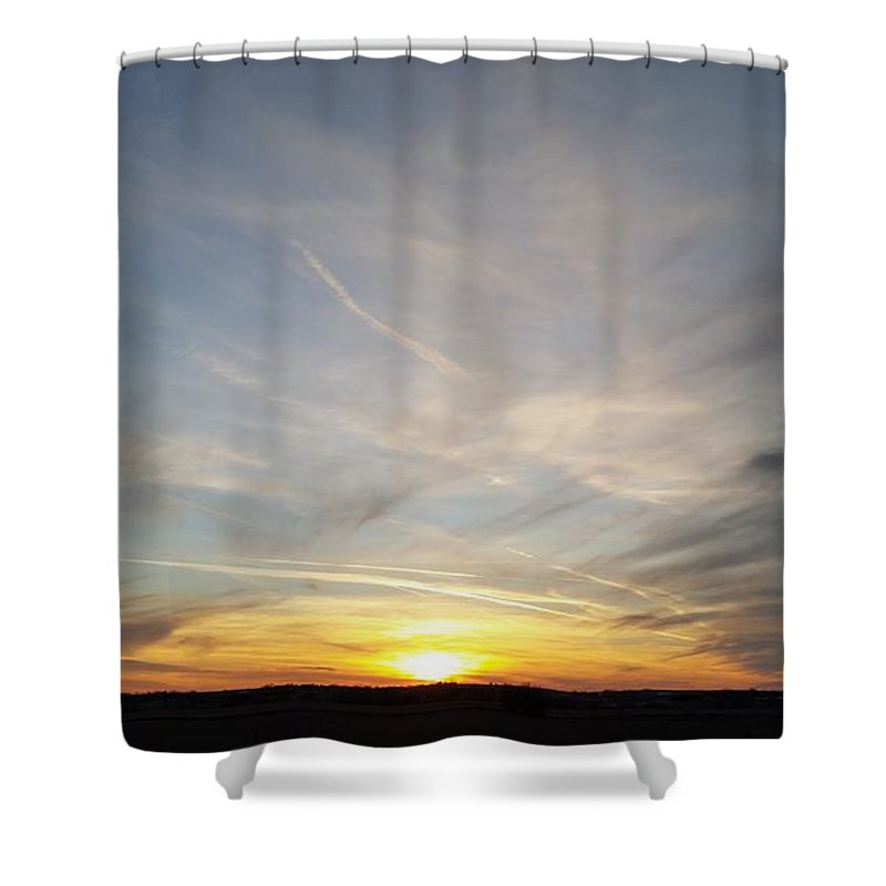 Branched Oak Lake Shower Curtain featuring the photograph Winter Sun by Caryl J Bohn