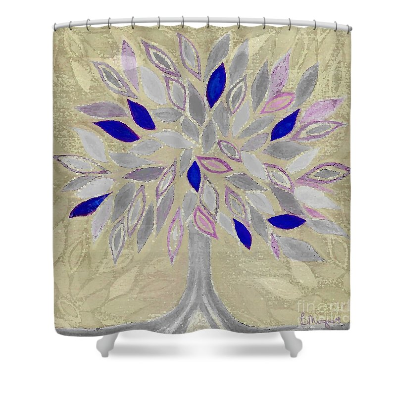 Tree Shower Curtain featuring the painting Winter Tree by Barbara Moignard