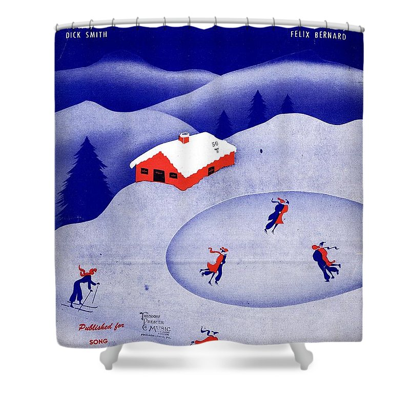 Nostalgia Shower Curtain featuring the photograph Winter Wonderland by Mel Thompson