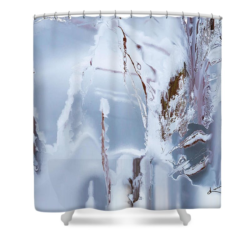 Winter Shower Curtain featuring the painting Winterland by Kume Bryant
