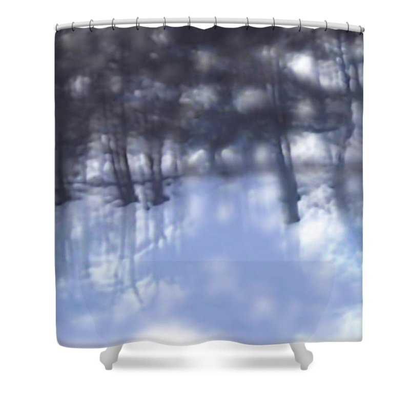 Winter Shower Curtain featuring the digital art Winters' Shadow by Kume Bryant