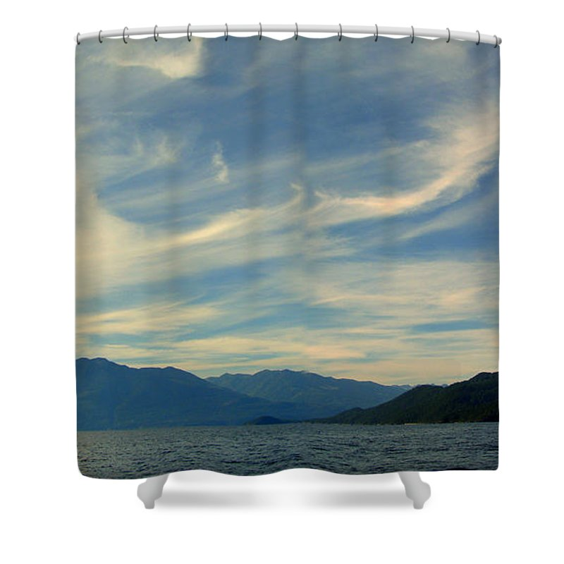 Kootenay Shower Curtain featuring the photograph Wispy Clouds by Leone Lund