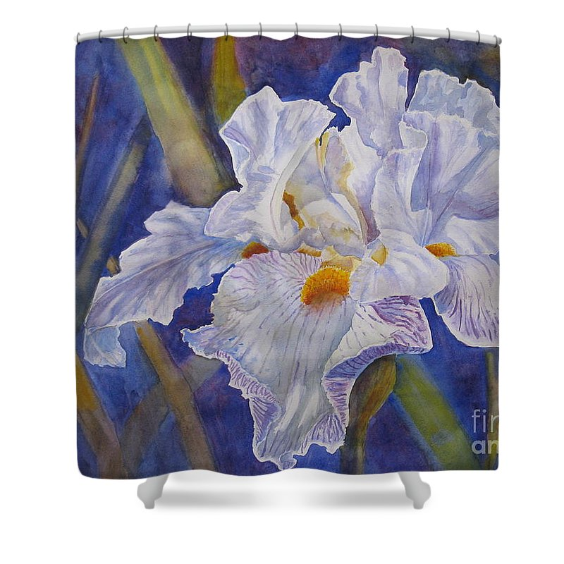 Light Shower Curtain featuring the painting Wispy by Mohamed Hirji