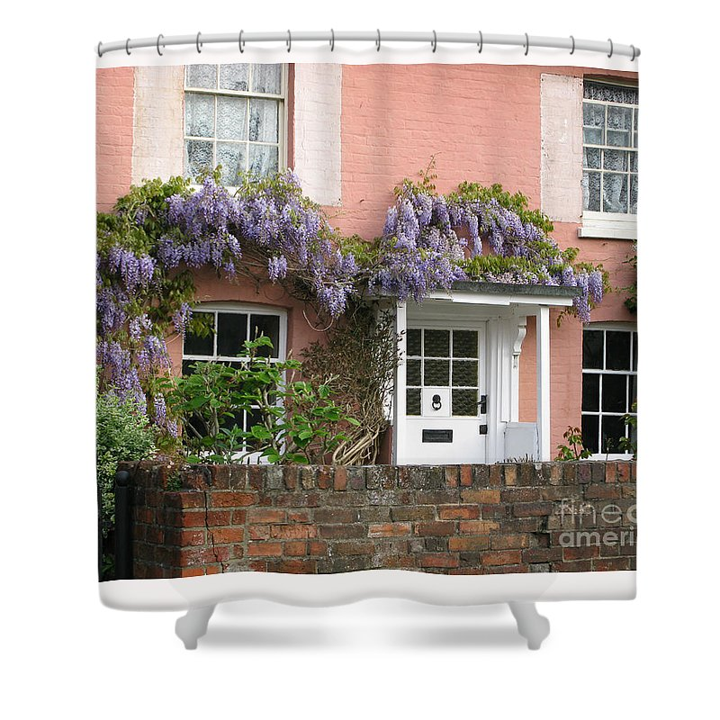 Wisteria Shower Curtain featuring the photograph Wisteria House by Ann Horn