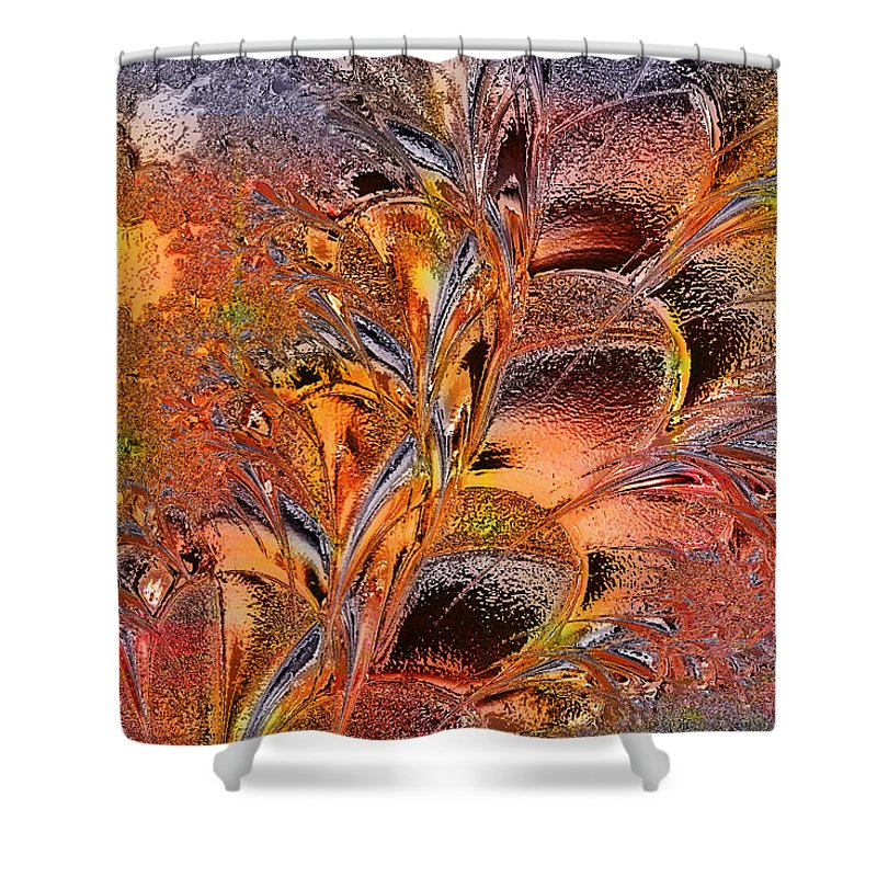 Glass Shower Curtain featuring the digital art Within The Glass by Paula Ayers