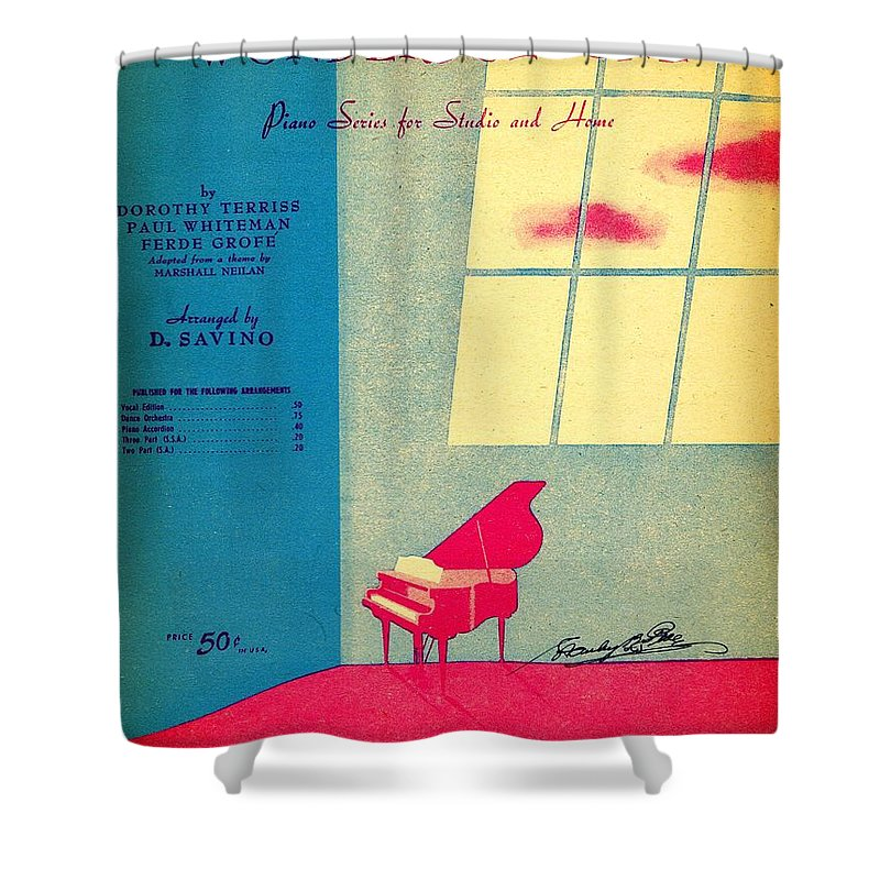 Nostalgia Shower Curtain featuring the photograph Wonderful One by Mel Thompson