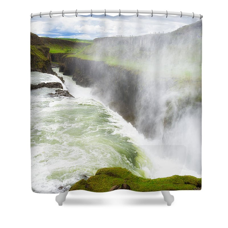 Gullfoss Shower Curtain featuring the photograph Wonderful Waterfall Gullfoss In South Iceland by Matthias Hauser