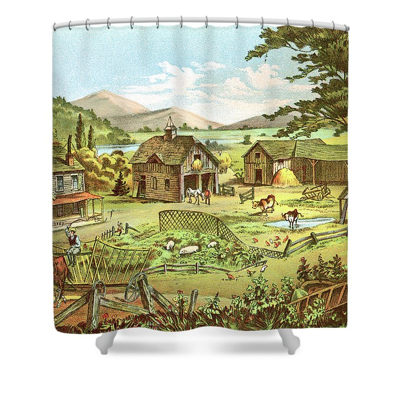 Horse Shower Curtain featuring the digital art Woodland Home Ten Years Later In Hands by Nnehring