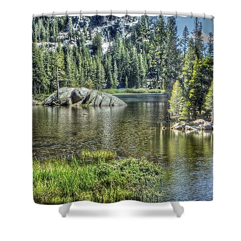 Lake Shower Curtain featuring the photograph Woods Lake 2 by SC Heffner