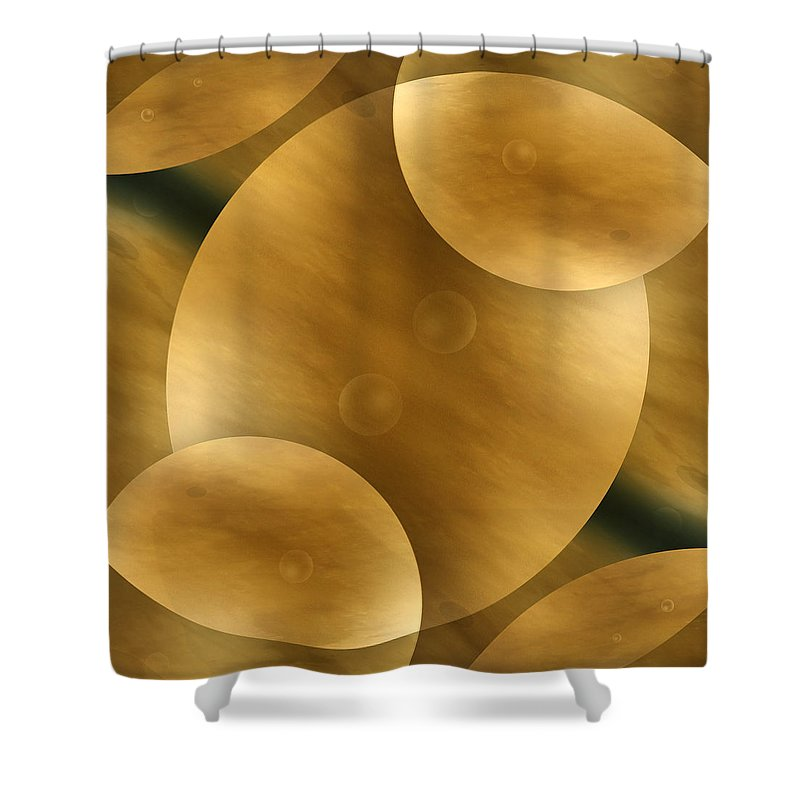 Abstract Shower Curtain featuring the photograph Worlds Collide 10 by Mike McGlothlen