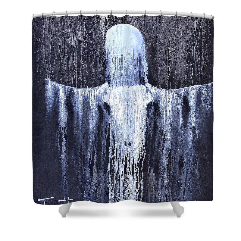Inspirational Shower Curtain featuring the painting Wovoka's Dream by Patrick Trotter