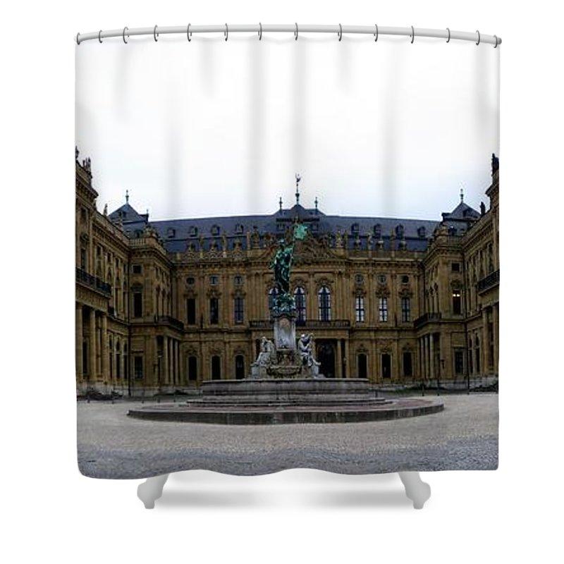 Residenz Shower Curtain featuring the photograph Wuerzburger Residenz by Henrik Lehnerer