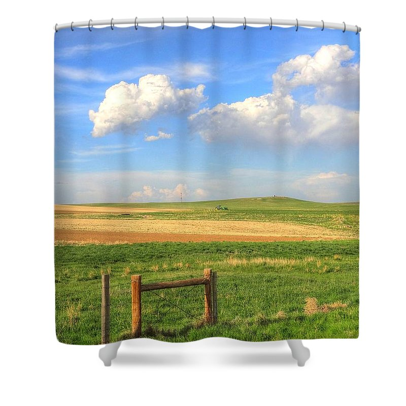 Wyoming Shower Curtain featuring the photograph Wyoming Landscape by Lanita Williams