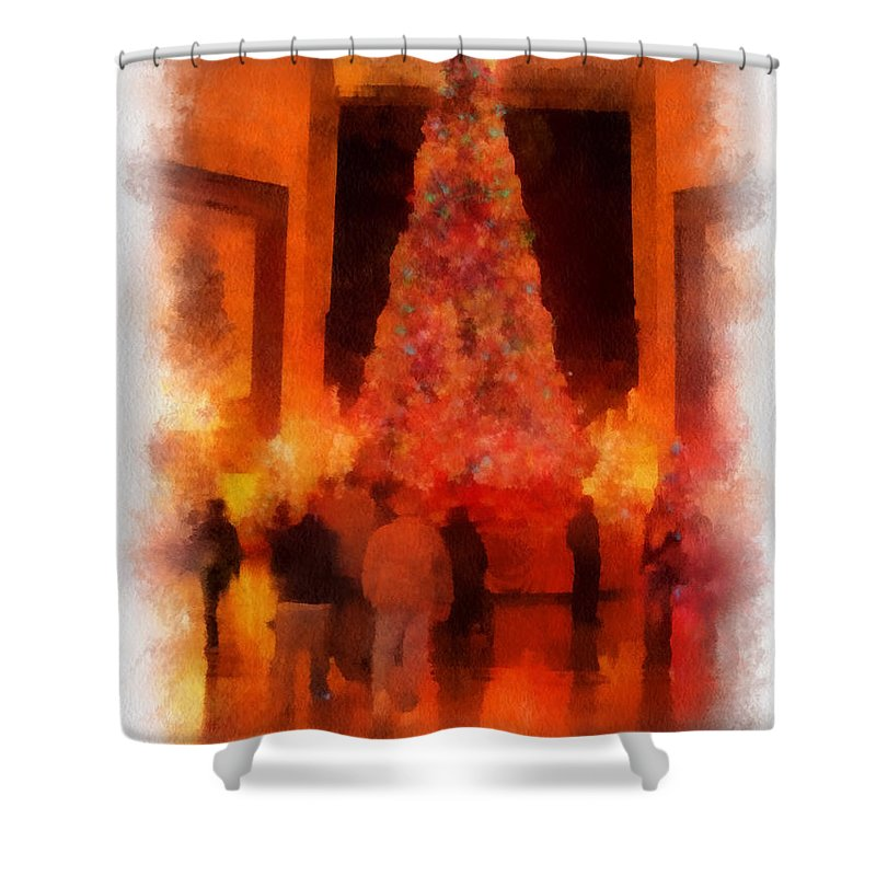 Tree Shower Curtain featuring the photograph Xmas Time At Msi Photo Art by Thomas Woolworth