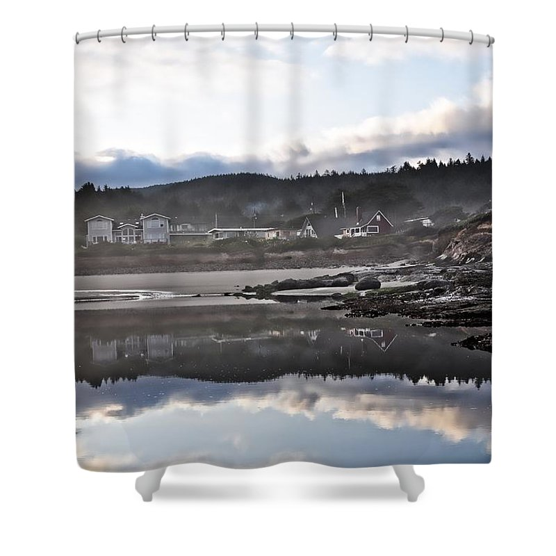Yachats Shower Curtain featuring the photograph Yachats Oregon by Image Takers Photography LLC