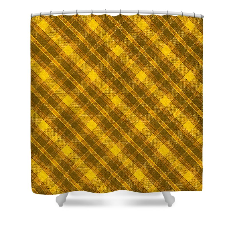Yellow And Brown Diagonal Plaid Pattern Cloth Background Shower ...