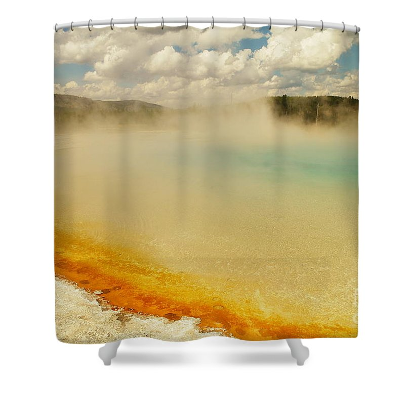 Hot Springs Shower Curtain featuring the photograph Yellowstone Hot Springs by Jeff Swan