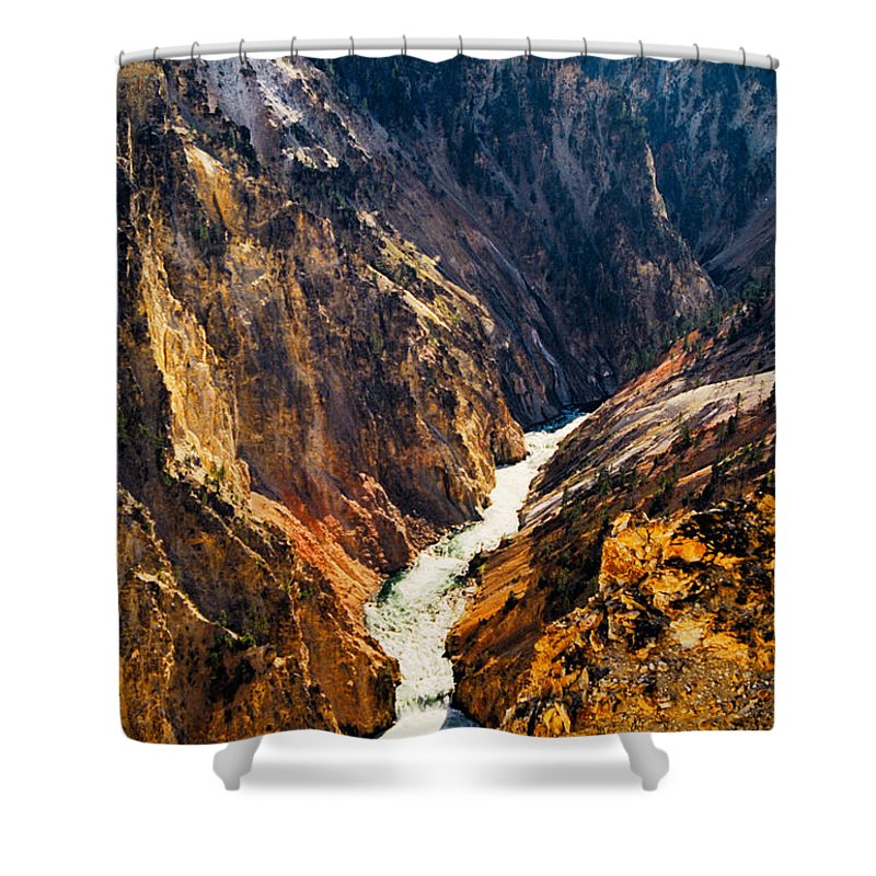 Yellowstone Shower Curtain featuring the photograph Yellowstone River by Kathy McClure