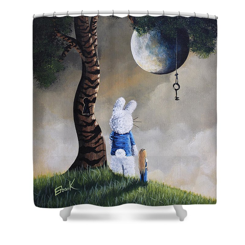 Alice Shower Curtain featuring the painting Alice In Wonderland Artwork - Fairytale Paintings by Erback Art