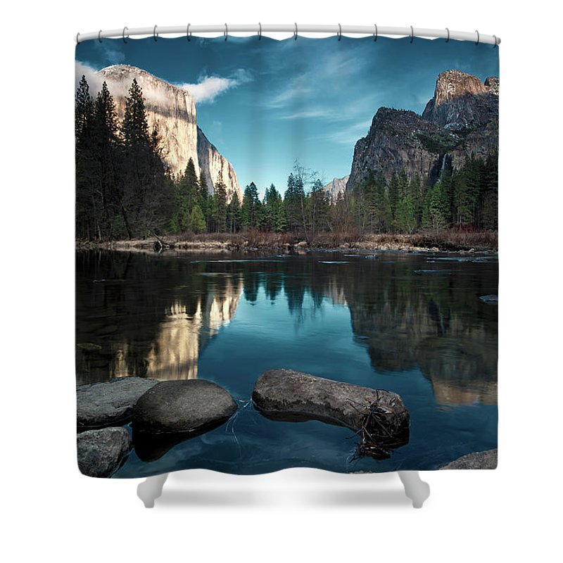 Scenics Shower Curtain featuring the photograph Yosemite Valley by Joe Ganster