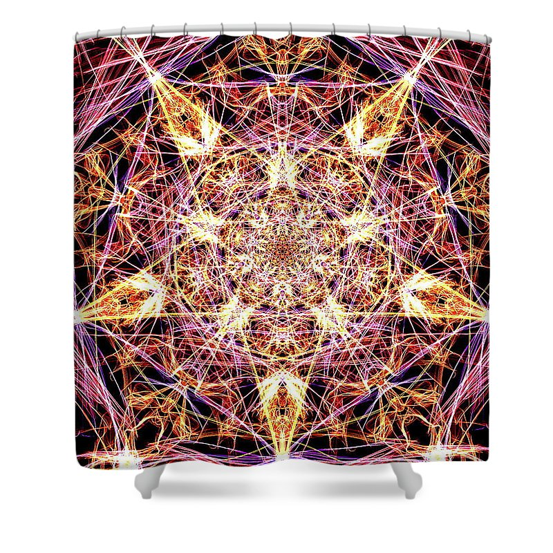 Digital Shower Curtain featuring the digital art You Are A Star by April Patterson
