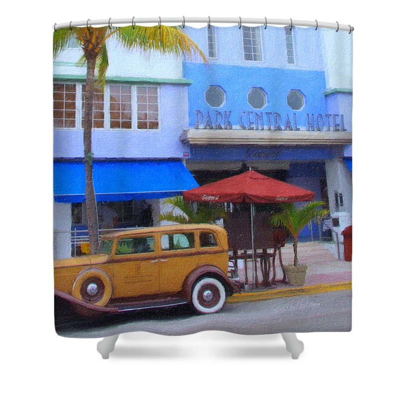 Art Deco Shower Curtain featuring the photograph Your Driver Is Waiting by Tom Reynen