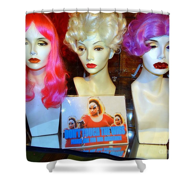Mannequins Shower Curtain featuring the photograph You've Been Warned by Ed Weidman