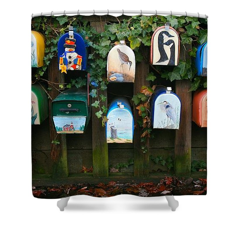 Mailboxes Shower Curtain featuring the photograph You've Got Mail by Chris Dutton