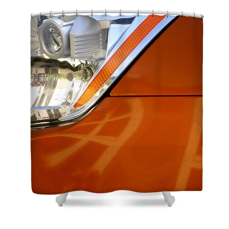 Auto Shower Curtain featuring the photograph Z Headlight P by Jerry Sodorff