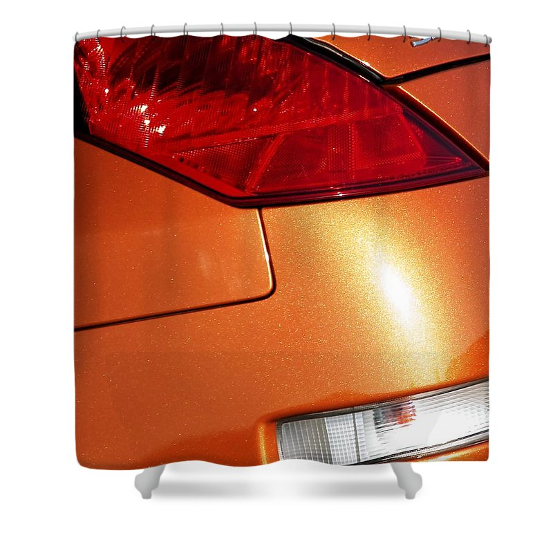 Auto Shower Curtain featuring the photograph Z Taillights P by Jerry Sodorff