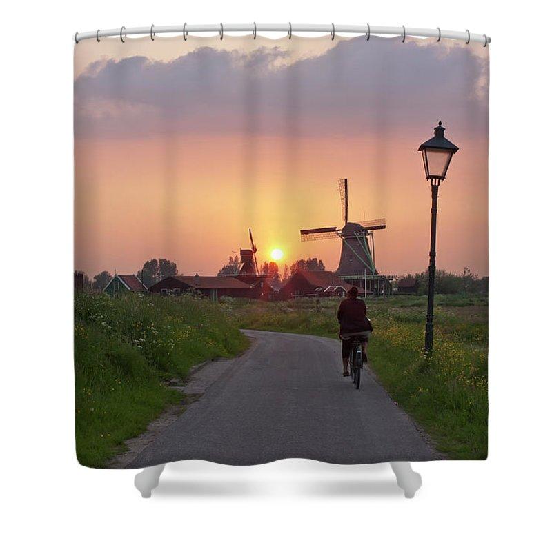 North Holland Shower Curtain featuring the photograph Zaanse Schans Windmills by Ivan