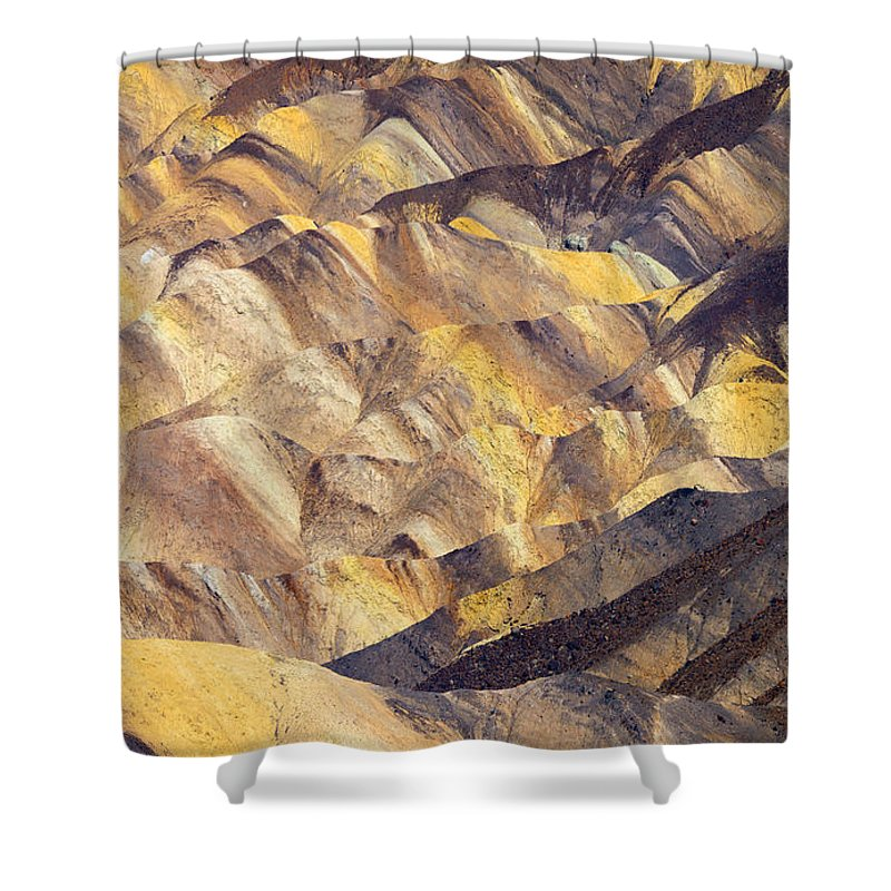 Zabriskie Point Shower Curtain featuring the photograph Zabriskie Color by Mike Dawson