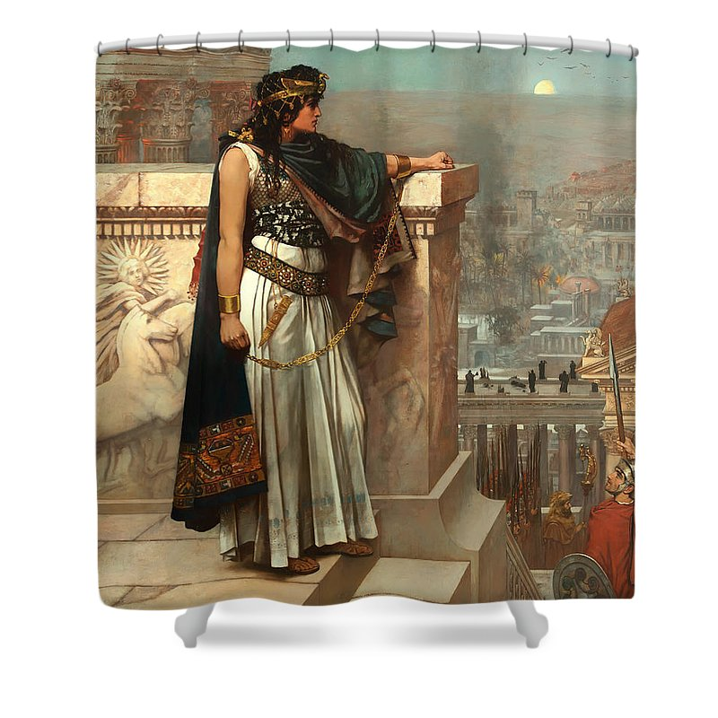 Painting Shower Curtain featuring the painting Zenobia's Last Look On Palmyra by Mountain Dreams