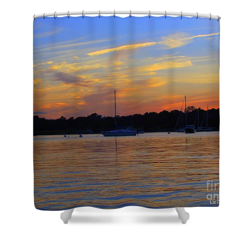 Sunsets Shower Curtain featuring the photograph Zig Zag Sky by Elizabeth Dow