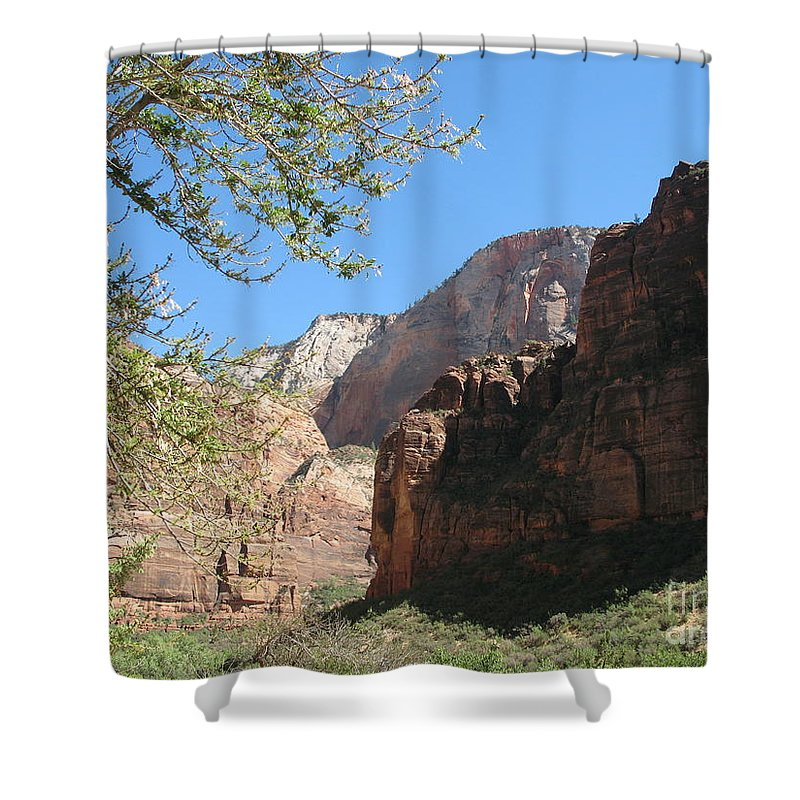 Zion Park Shower Curtain featuring the photograph Zion Park Impression by Christiane Schulze Art And Photography