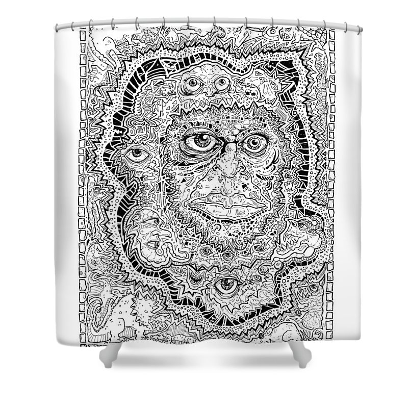 Zull Shower Curtain featuring the painting Zull by Tom Carlton