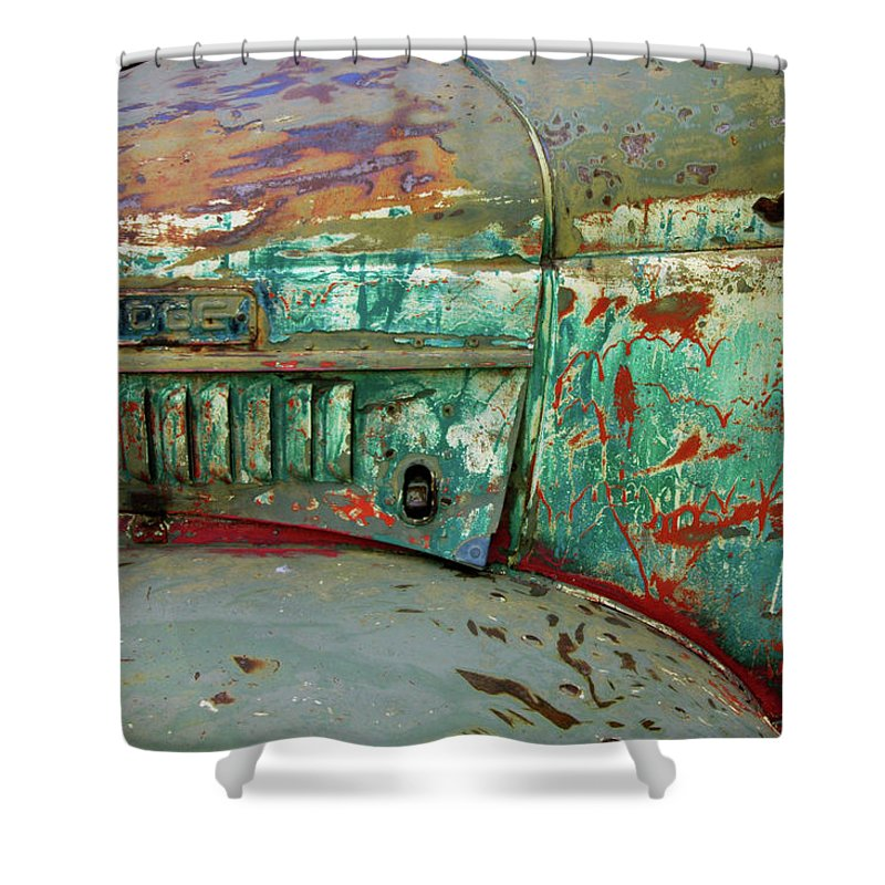 Dodge Shower Curtain featuring the photograph Dodge by Ron Weathers
