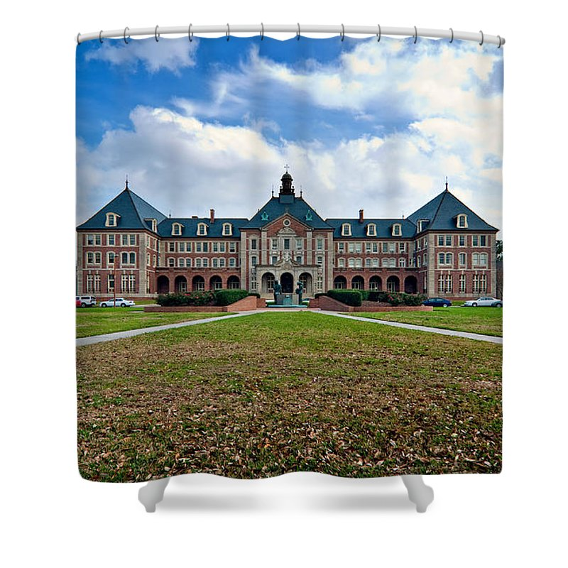 New Orleans Shower Curtain featuring the photograph Notre Dame Seminary by Steve Harrington
