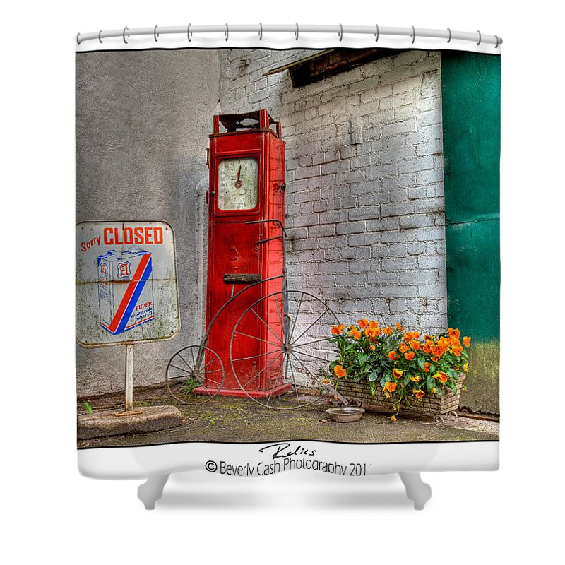 Old Shower Curtain featuring the photograph Relics - Bygone Era by Beverly Cash