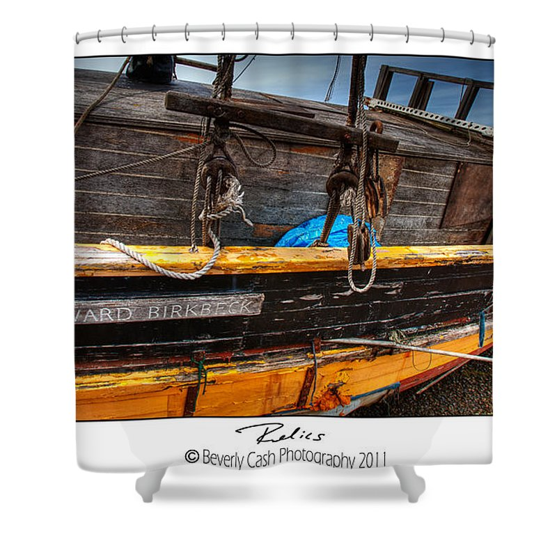Old Shower Curtain featuring the photograph Relics - Edward Birkbeck by Beverly Cash