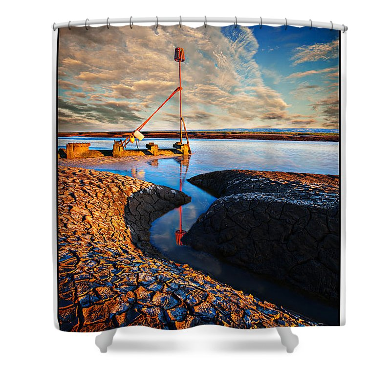 Sunset Shower Curtain featuring the photograph Sunset On The Marker by Beverly Cash