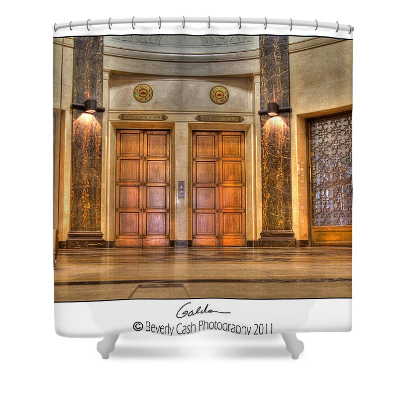 Foyer Shower Curtain featuring the photograph Vintage Golden by Beverly Cash